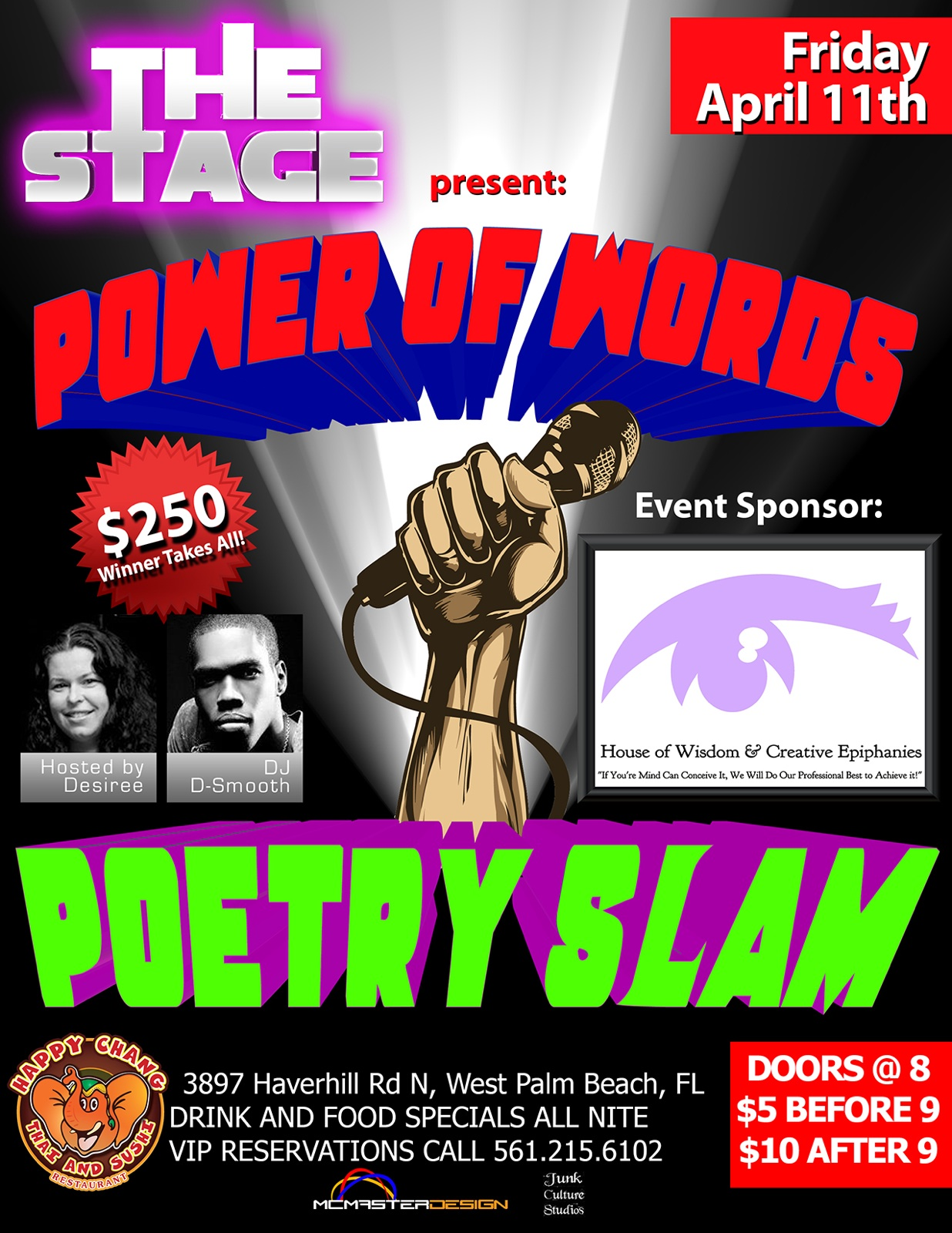 THE STAGE – $250 Poetry Slam Friday 11th