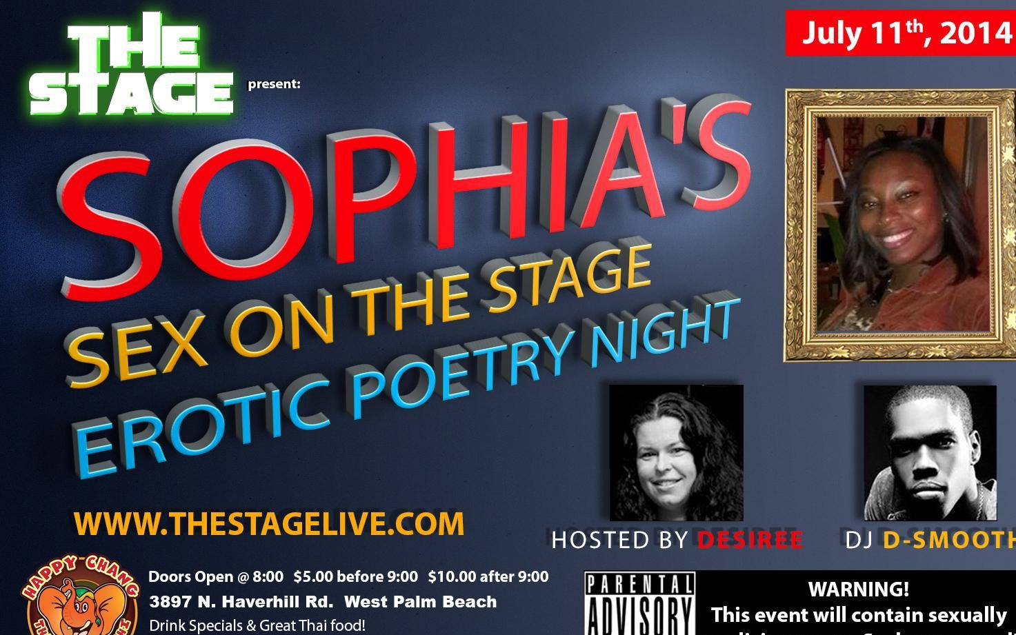 Sophia's Sex on The Stage July 11th