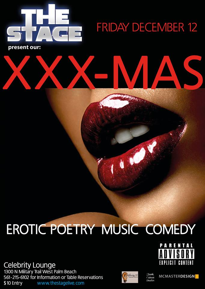 THE STAGE'S Annual XXX-MAS Erotic Poetry Show