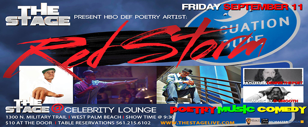 THE STAGE presents...HBO DEF POET RED STORM - Friday Sept. 11
