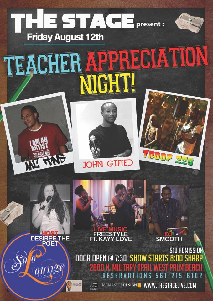 THE STAGE PRESENTS... Teacher Appreciation Night - Aug 12th