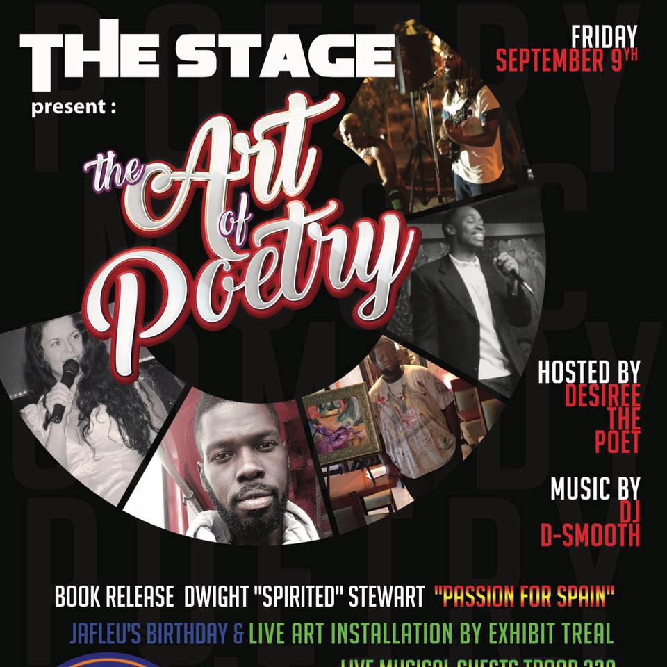 THE STAGE PRESENTS... the Art of Poetry - Sep 9th