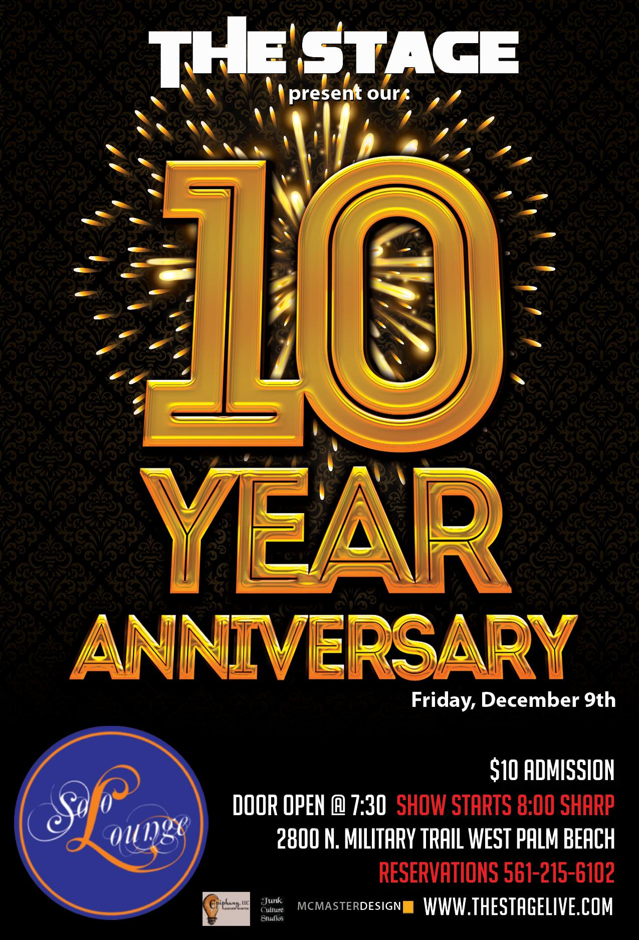 The STAGE 10 Year anniversary - Dec 9th