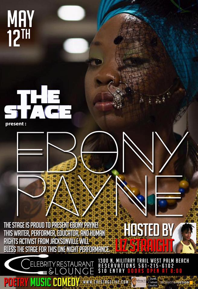 THE STAGE presents Desiree's 10th annual Poetry BDay Bash ft Ebony Payne - May 12th