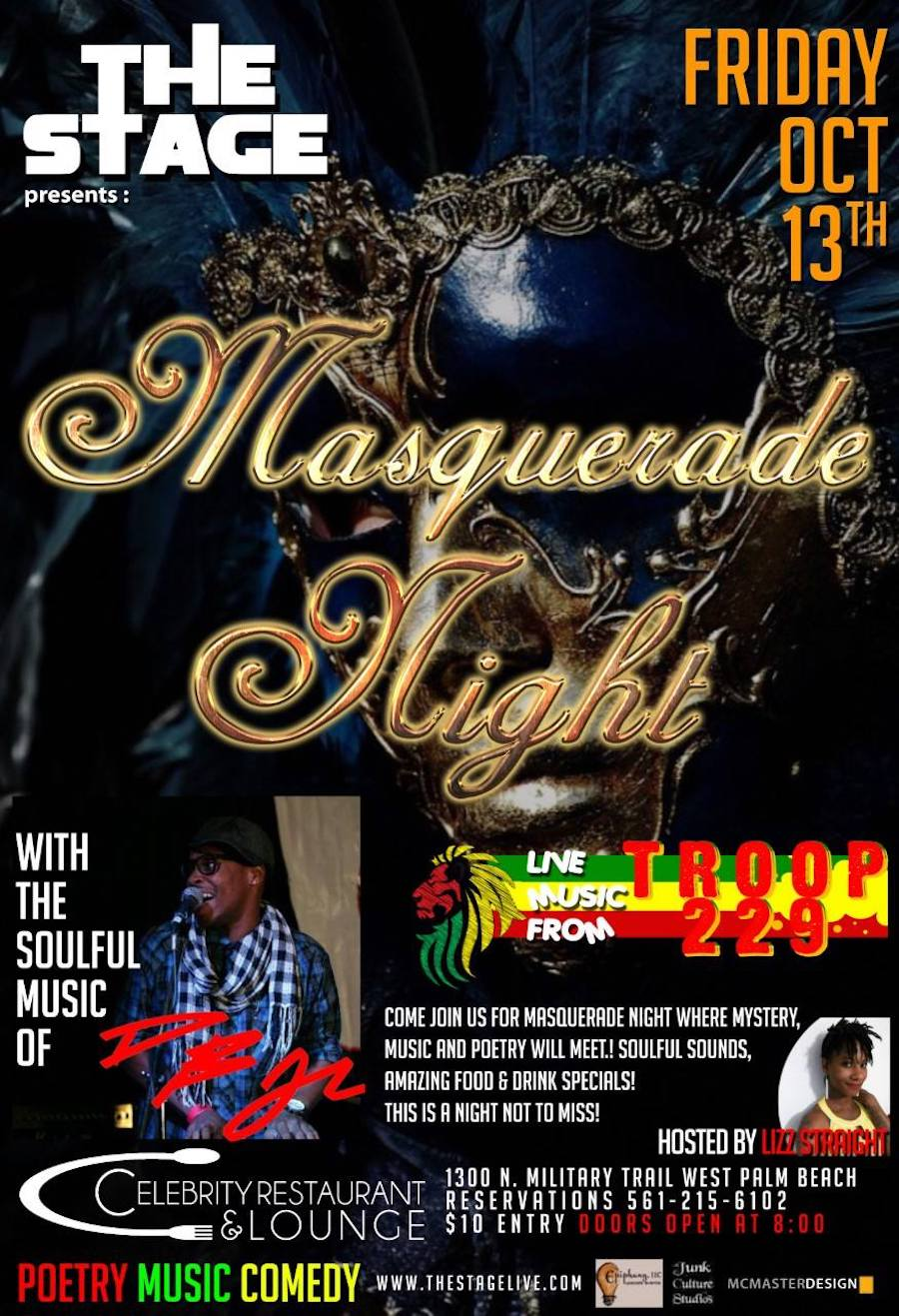 The STAGE Presents Masquerade ft DB Jr Oct 13th